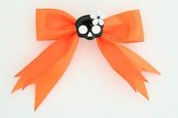 Orange / skull flower black-white orange cute skull