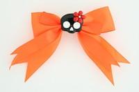 Orange / skull flower black-red orange cute skull