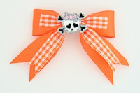 Orange / cute skull bone white-pink orange cute skull