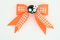 Orange / cute skull flower black-white orange cute skull