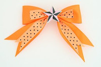 Dot orange / star black-pink orange star