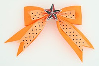 Dot orange / star black-red orange star