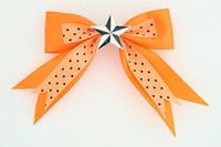 Dot orange / star black-white orange star