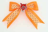 Dot orange / cat red orange animal