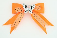 Dot orange / butterfly white orange animal