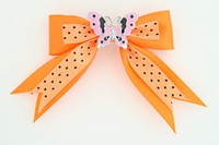 Dot orange / butterfly pink orange animal