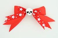 Red / skull plain white red skull
