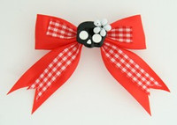Red / skull flower black-white red cute skull