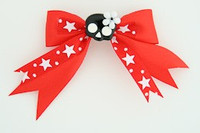 Red / cute skull flower black-white red cute skull