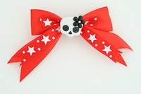 Red / cute skull flower white-black red cute skull
