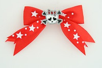 Red / cute skull bone white-red Red cute skull