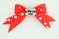 Red / cute skull bone black-pink red cute skull
