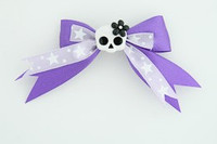 Purple / cute skull flower white-black dark purple cute skull