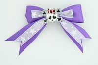 Purple / cute skull bone white-red dark purple cute skull