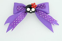 Dot purple / cute skull flower black-red dark purple cute skull