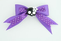 Dot purple / cute skull flower black-white dark purple cute skull