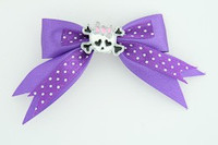 Dot purple / cute skull bone white-pink dark purple cute skull