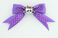 Dot purple / cute skull bone white-red dark purple cute skull