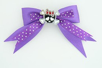 Dot purple / cute skull bone black-red dark purple cute skull