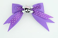 Dot purple / cute skull bone black-pink dark purple cute skull