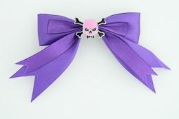 Purple / skull tooth pink dark purple skull