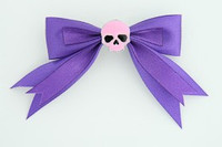 Purple / skull plain pink dark purple skull
