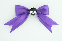 Purple / skull plain black dark purple skull