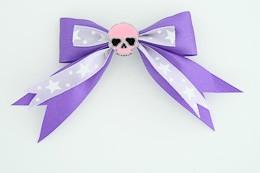 Purple / skull plain pink dark purple skull