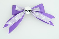 Purple / skull plain white dark purple skull