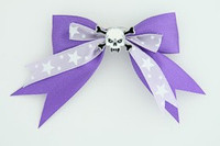 Purple / skull tooth white dark purple skull