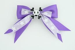 Purple / skull squared white dark purple skull