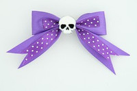 Dot purple / skull plain white dark purple skull