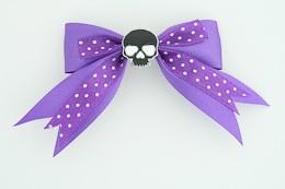 Dot purple / skull plain black dark purple skull