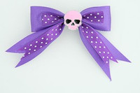 Dot purple / skull plain pink dark purple skull