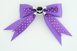 Dot purple / skull tooth black dark purple skull
