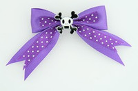 Dot purple / skull squared white dark purple skull
