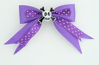 Dot purple / skull cross eye white dark purple skull