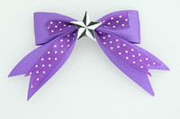 Dot purple / star black-white dark purple star
