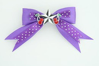 Dot purple / star cherry black-white dark purple star