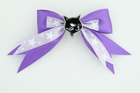 Purple / cat black dark purple animal