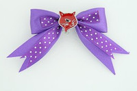 Dot purple / cat red dark purple animal