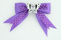 Dot purple / butterfly white dark purple animal