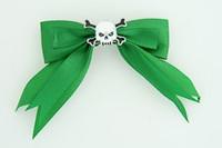 Green / skull tooth white green skull