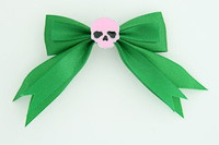 Green / skull plain pink green skull