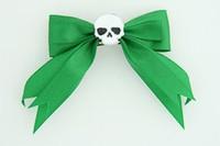 Green / skull plain white green skull