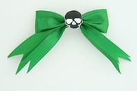 Green / skull plain black green skull