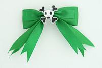 Green / skull squared white green skull