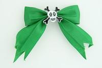 Green / skull cross eye white green skull