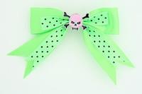 Dot green / skull tooth pink green skull