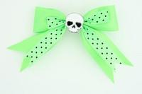 Dot green / skull plain white green skull